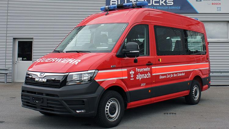 Neuer Feuerwehr-MANn in Alpnach