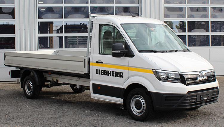 Liebherr-Baumaschinen AG setzt auf MAN TGE