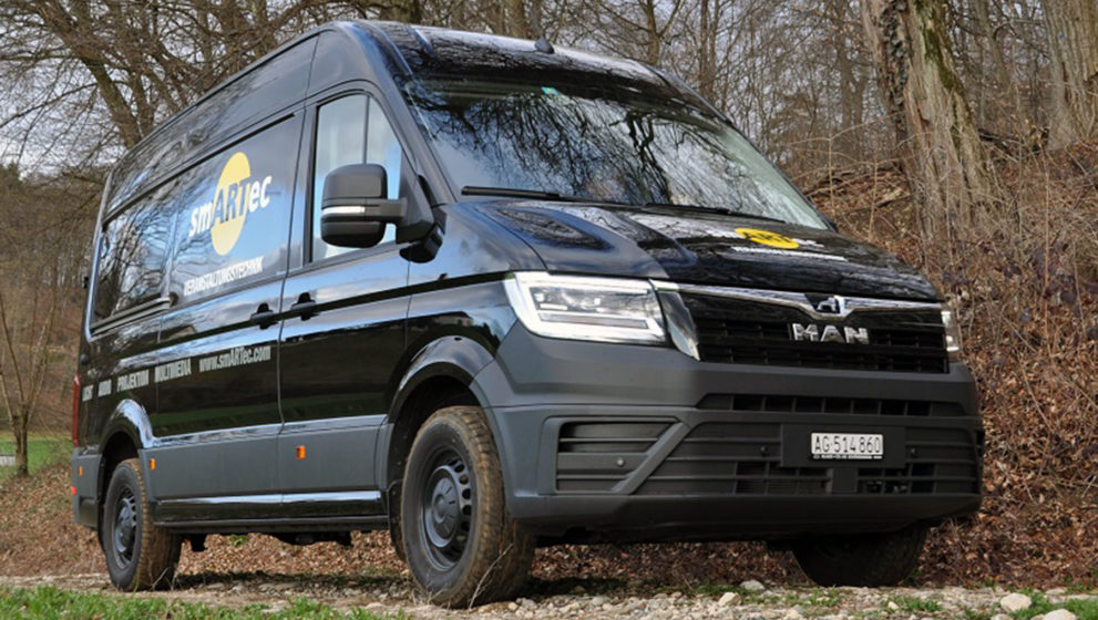 MAN-Transporter TGE überzeugt mit smartem Allradantrieb