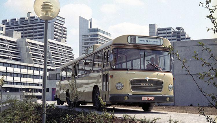 MAN präsentierte bereits vor 50 Jahren den ersten Elektrobus