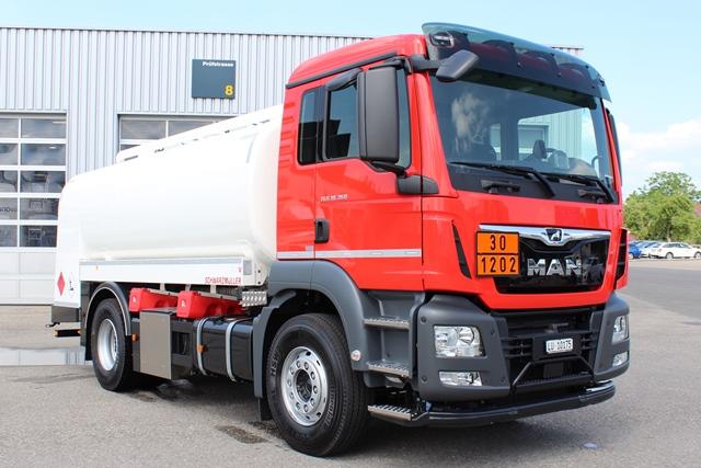 Energiegeladenes MAN TGS Tankfahrzeug