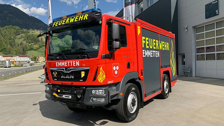 Neuer FeuerwehrMANn in Emmetten