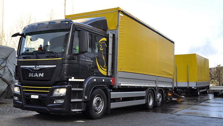 Spezielles Geschäft, spezieller Lastwagen