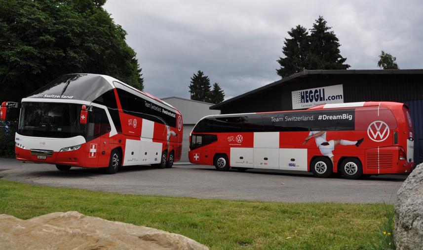 Neoplan, Heggli AG und der Schweizer Fussball