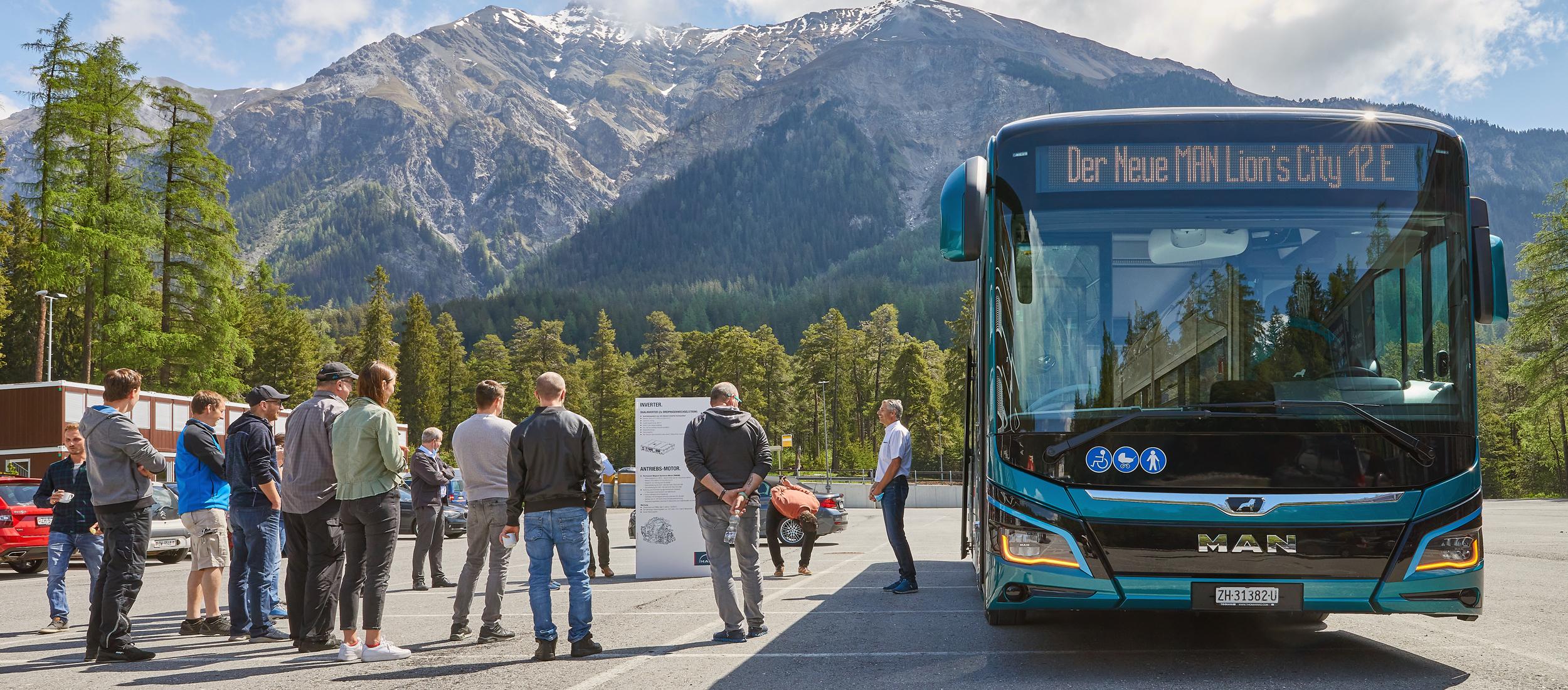 Der MAN Lion's City 12 E elektrisiert einfach jede Schweizer Stadt